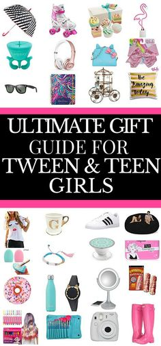 Gifts for Teens Ultimate Gift Guide for Tween & Teen Girls Are you looking for cool and popular gifts for teen girls? Need gift ideas for your teenager's birthday or Christmas? Check out this gift guide for teenage girls! Whether you're searching for a Sweet 16 birthday gift or an awesome gift for Christmas or other holiday, you'll find cute ideas on this list of must-have gifts for teens! #giftguide #teenagers #giftidea