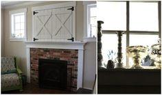 tv hole above fireplace - Google Search