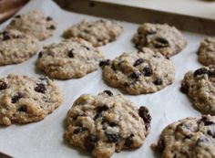 Chewy oatmeal raisin cookies using brown rice syrup in place of standard sugar