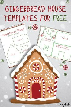 gingerbread house template Want to build your own gingerbread house or man? Have a look at this page for printable gingerbread house and gingerbread man templates. Gingerbread House Template Printable, Gingerbread House Patterns, Gingerbread Decorations, Christmas Gingerbread House, Christmas Card Template, Gingerbread Houses, Christmas Crafts For Gifts, Christmas Sweets, Christmas Time