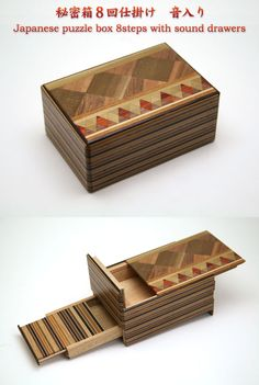 Japanese Puzzle Box 8steps With Sound Drawers