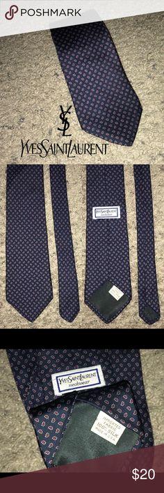 "b7bdf788b55 YSL necktie Yves Saint Laurent tie Pre owned Yves Saint Laurent necktie..  3.75"""