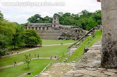 Palenque Maya Ruins -  Surrounded by a dense jungle forest in a dramatic mountain setting, Palenque is widely regarded as the most atmospheric and impressive of Mexico's Mayan ruins