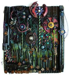 """""""Life Goes On"""" by Tricia Courtney. This piece was made out of the debris from the May 22, 2011 Joplin Tornado. Rose Gallery of Fine Art  508 N. Range Line Road  Joplin, MO 64801  417.782-7177    rosefineartgallery@gmail.com"""