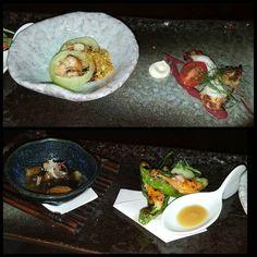 Cucumber with uni Mediterranean octopus eggplant stuffed shishito peppers #losangeles #eaterla #eater #dinela #dinela2016 #laeats #lafood #lafoodie #lafoodjunkie #foodie #foodstagram #foodies #wheretoeatinla #thingstodoinla #jgold101 #losangelesfoodies #nnaka #nnakarestaurant #nikinakayama #chefnikinakayama #japanesefood #kaiseki #modernkaiseki #cucumber # uni #octopus #shishito #peppers #eggplant #appetizer by mitchm33