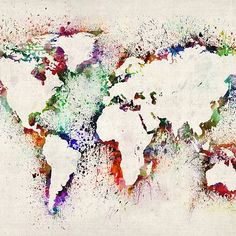 Map+of+the+World+Paint+Splashes