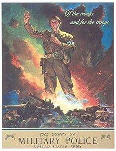 US Military Police poster, WWII