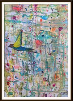 Sylvie Demers Faire surface, aquarelle, acrylique et encre, 29'' x 40 encadré, 2013 http://www.mannyyoung.co.uk/