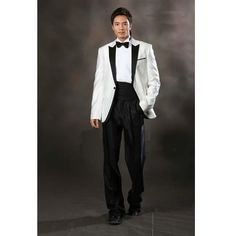 Black Fancy Retro Vintage Wedding Prom Tuxedo Dress Suit Clothing ...