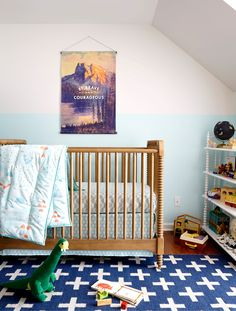 Post by Joni of Lay Baby Lay. I was really excited to have the opportunity to collaborate with The Land of Nod to create a special space for my friend Keri's youngest baby, Timothy.  He came along ...