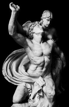 Marble statue in Berlin of the ancient Greek god,... -                    Art for art's sake