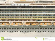 Lateral View Of The Costa Diadema Cruise Ship In Barcelona Editorial Stock Image - Image of dream, catalonia: 116828389