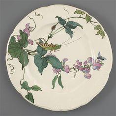 ¤ Service Lambert-Rousseau: assiette plate Après 1884. Période Leboeuf-Milliet et Cie (1841-1875) Auteur: Lambert Henri (1836-1909) Manufacture de Creil