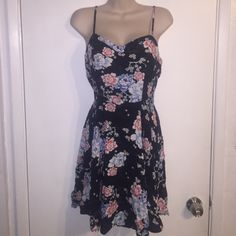 Japanese koi pond inspired sun dress So cute and light and fun! Never worn. NWOT. Navy blue with red white and light blue accent colors. Back has an area for stretch Cotton On Dresses Mini