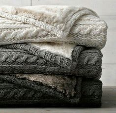 Elegant grey cable knit throw blanket cable knit luxe faux fur stroller blanket from restoration hardware baby love love love VASRUUR - Crochet and Knit charcoal gray, tan, and cream cable knit blankets with soft fur on the back - i love these cozy double Cable Knit Blankets, Cozy Blankets, Winter Blankets, Fluffy Blankets, Restoration Hardware Baby, Rh Baby, Faux Fur Blanket, Fuzzy Blanket, Stroller Blanket