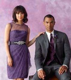 How great do these #purple tones look together? #menswearhouse #weddings