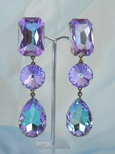 Vintage Wendy Gell Lavender Crystal Designer....oh how I love Wendy Gell!!!
