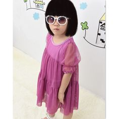 Aliexpress.com : Buy Girls princess chiffon lolita dress summer style fashion baby girls children kid pure color cute clothes wedding white pink from Reliable girls princess suppliers on DSMint