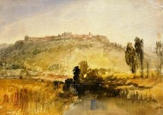Carisbrooke Castle Art Print by Joseph Mallord William Turner. All prints are professionally printed, packaged, and shipped within 3 - 4 business days. Lawn And Landscape, Landscape Art, Landscape Paintings, Oil Paintings, Joseph Mallord William Turner, Carisbrooke Castle, Turner Watercolors, Summer Drawings, Thing 1