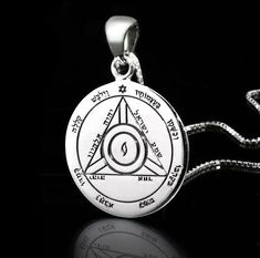 Buy Seals of Solomon Jewelry.  The 44 King Solomon Seals are attributed to King Solomon, who was given the knowledge associated with the creation of the seals by an angel of the Lord. According to ancient traditions the various seals were used by the magic-wise monarch in magical rituals to evoke spirits in order to achieve benevolent and just goals.  Made from Sterling Silver.
