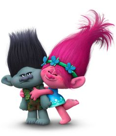 Trolls Branch and Poppy Transparent PNG Image