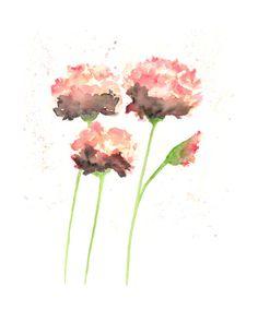 Watercolor flowers, watercolor painting, flower painting, abstract flowers, watercolor poppies, flower art, poppy print, peach, 8X10 print