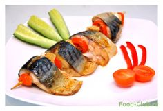 Скумбрия, запеченная с овощами (диета Дюкана) / С рыбой и морепродуктами / Кулинарные рецепты - Фуд-клаб.ру
