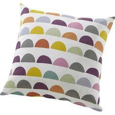 coussin carré multicouleur en coton et polyester, avec motif galleta. #coussin #deco #homedecor #homedesign #ideedeo #interiordesign #color #leroymerlin
