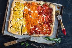 Ombre tomato tart #recipe #tomatoes #tart #ombre #food