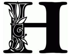 vine monogram h by jennifer wambach #68524