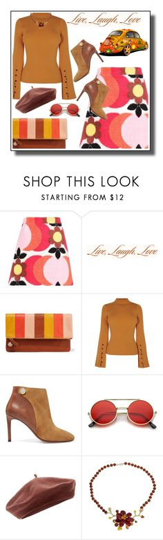 """""""Live, laugh, love"""" by noconfessions ❤ liked on Polyvore featuring Miu Miu, Expressions, Clare V., Carven, ZeroUV, Accessorize, NOVICA and 70sinspired"""