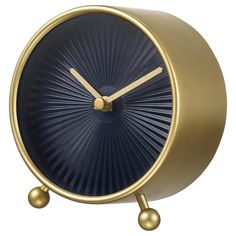 IKEA - SNOFSA, Table clock, brass color, No disturbing ticking sounds since the clock has a silent quartz movement. Highly accurate at keeping time as it is fitted with a quartz movement. Batteries are sold separately; At Home Furniture Store, Modern Home Furniture, Ikea Clock, Desk Clock, Big Wall Clocks, Table Ikea, Kitchen Clocks, Bronze, Glass