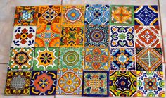 Hey, I found this really awesome Etsy listing at https://www.etsy.com/listing/197225293/24-mexican-talavera-tileshand-painted-4