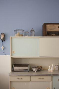 k chenschr nke original 50er 60er jahre einbauschrank besenschrank k che pastell ebay. Black Bedroom Furniture Sets. Home Design Ideas