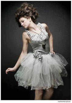 Soft grey tank with tulle and taffeta ruffles Evening Dresses, Prom Dresses, Wedding Dresses, Little Girl Dresses, Flower Girl Dresses, Tulle Tutu, Tulle Skirts, Adult Tutu, Rock