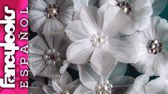 Estas variadas flores de papel vegetal son preciosas, delicadas, de muy distinto aspecto aunque estén hechas con los mismos materiales y herramientas. aprend...