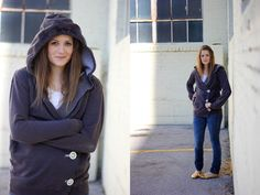How to make an oversized men's hoodie into a nice girly one