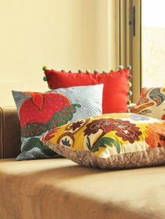 Pomegranate Cushion Cover - 16in x 16in