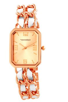 This Ladies' Double Chain Watch In Rose Gold Is On Sale Right Now! Save more than 60% at Beyond the Rack!