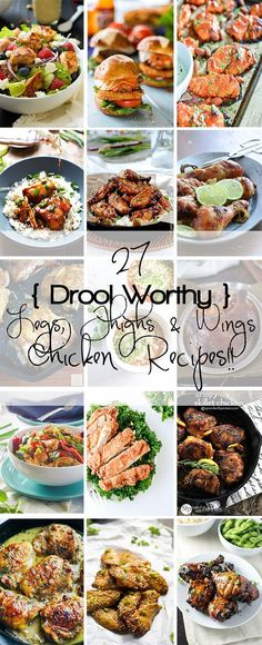 27 Legs, Thighs & Wings Chicken Recipes!