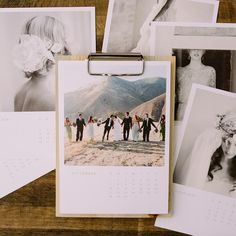 Upload 12 of your favorite photos and enjoy them all year in this premium quality clipboard calendar.