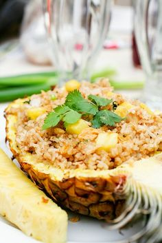 Luau menu: Pineapple Fried Rice and others