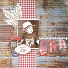 Kaisercraft : Old Mac collection : Farm Sweet Farm layout by Amanda Baldwin Photo Layouts, Scrapbook Page Layouts, Scrapbook Pages, Scrapbooking Ideas, Farm Layout, Mac Collection, Arts And Crafts, Paper Crafts, Specialty Paper