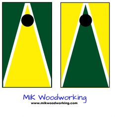 University of Oregon Cornhole Set by MIK Woodworking