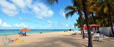 Beach right across from Numero 1 at Ocean Park Beach in San Juan, Puerto Rico