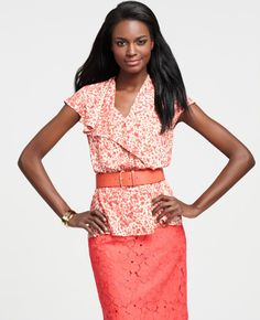 Spring. Ann Taylor. Love the bright colors and form fitting looks!