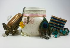 Vanity Mason Jar with Knob, White, Shabby Chic, Bridesmaid Gift, Bridal, Gift for Her, Jewellery Storage, Trinket Jar, Potpourri Holder by ShabbyChicRetreat on Etsy