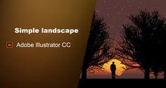 Simple Flat Landscape Adobe Illustrator Tutorial