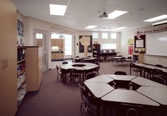 Counseling therapeutic and harmonizing colors are integral to creating a sa Classroom Walls, Classroom Setup, Classroom Design, Classroom Organization, Classroom Furniture, Future Classroom, Diy Classroom Decorations, Classroom Arrangement, Accent Wall Colors
