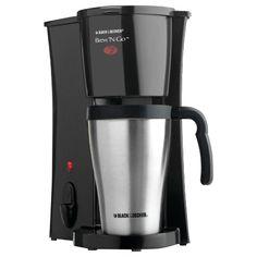 Black & Decker Brew 'n Go Personal Coffeemaker with Travel Mug Pot Machine New #BlackDecker #Kitchen #Coffee #Maker #Brew